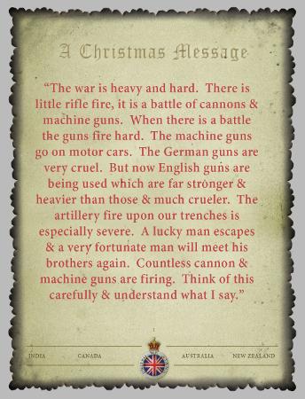 Christmas Card 1914 Page 1