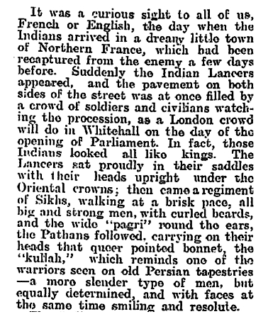 Newspaper clipping from The Evening Post, Thursday December 31, 1914 - Part 2