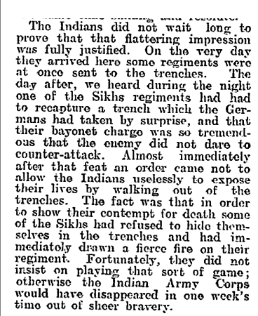 Newspaper clipping from The Evening Post, Thursday December 31, 1914 - Part 3