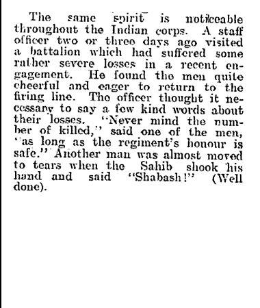 Newspaper clipping from The Evening Post, Thursday December 31, 1914 - Part 5