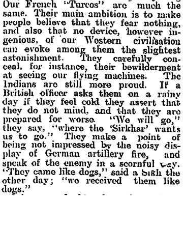 Newspaper clipping from The Evening Post, Thursday December 31, 1914 - Part 7