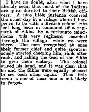 Newspaper clipping from The Evening Post, Thursday December 31, 1914 - Part 8