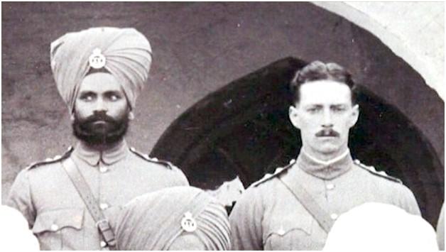 Manta Singh & George Henderson WW1 photo