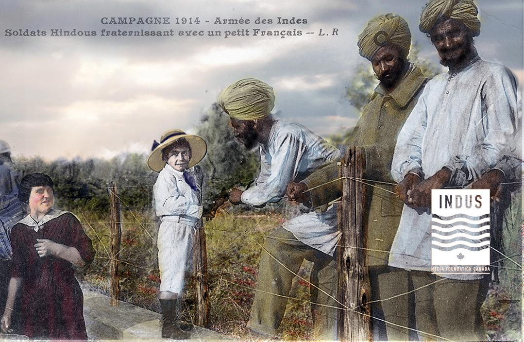 Sikh troops behind the lines in France Post Card 1914-15 (IMFC.org collection)