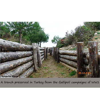 A trench preserved in Turkey from the Gallipoli campaigns of WW1